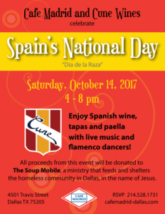 Cafe Madrid and Cune Wines celebrate Spain's National Day